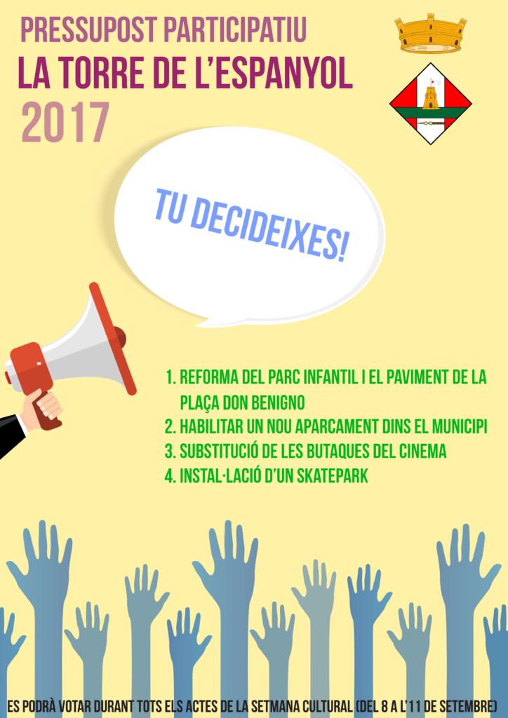 Cartell pressupost participatiu 2017